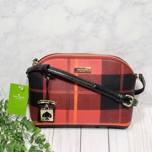 Kate Spade Hanna Crossbody Red Carpet Plaid